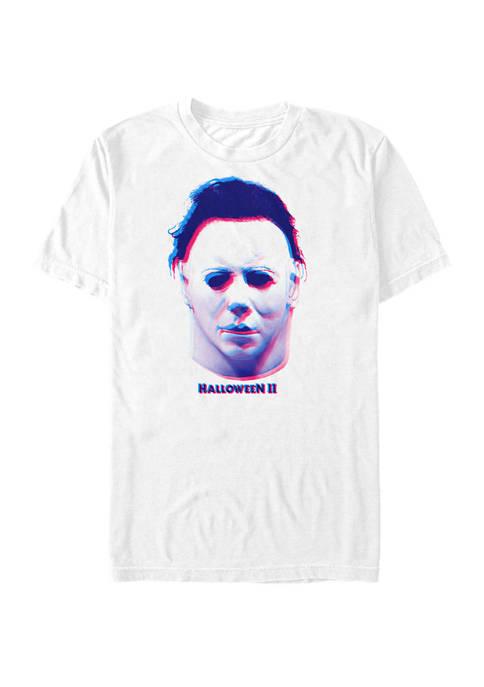 Halloween 2 Michael Myers Mask Portrait Short Sleeve
