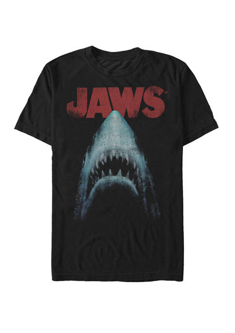 Jaws Classic Movie Poster Close Up Short Sleeve