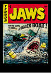 Big & Tall Jaws Pulp Attack Graphic Short Sleeve T-Shirt
