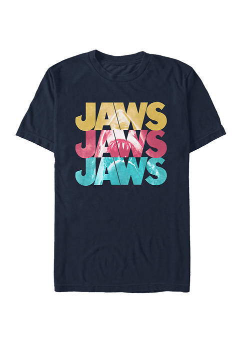 Jaws Logo Repeat Graphic T-Shirt