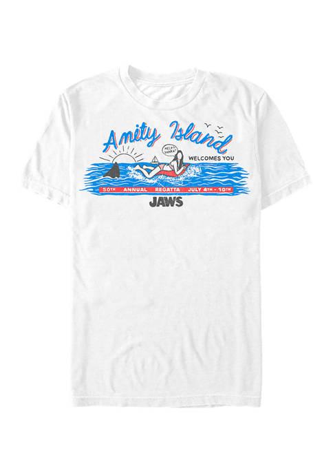 Jaws Amity Billboard Graphic T-Shirt