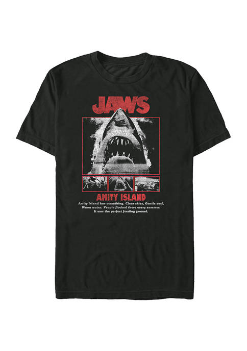 Jaws Poster Pop Graphic T-Shirt