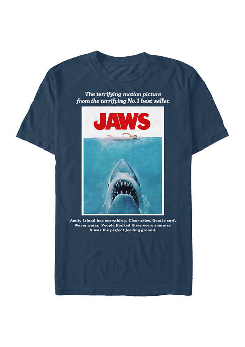 Jaws Movie Poster Graphic T-Shirt