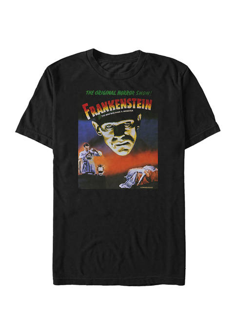 Big & Tall Classic Monsters Vintage Frank Graphic Short Sleeve T-Shirt