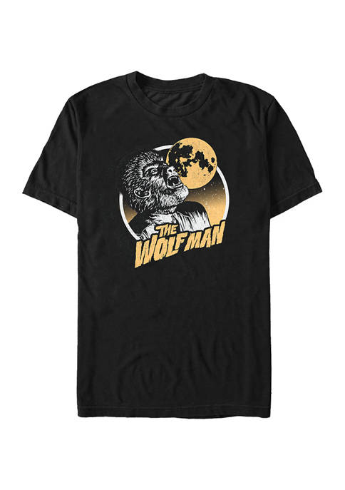 Universal Monsters Distressed Wolfman Graphic T-Shirt