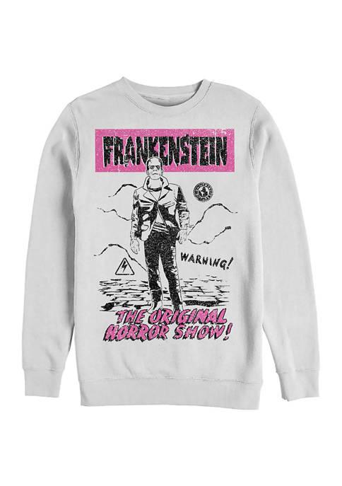 Universal Monsters Old Franky Graphic Crew Fleece Sweatshirt
