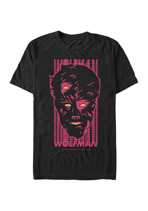 Universal Monsters Wolf Face Graphic T-Shirt