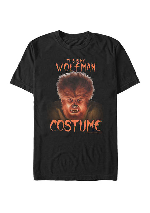 Big & Tall Wolfman Halloween Costume Short Sleeve Graphic T-Shirt