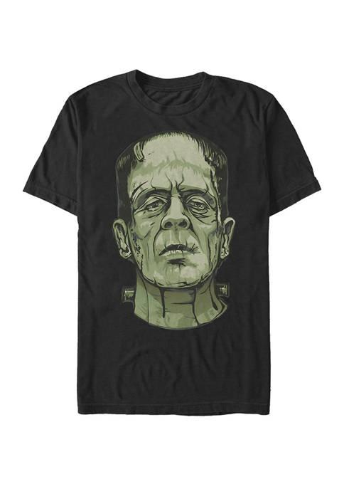 Big & Tall Frankenstein Big Face Short Sleeve Graphic T-Shirt