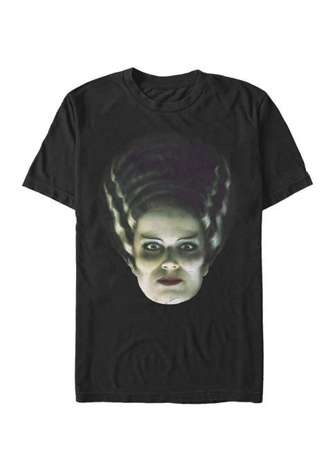 Big & Tall Frankensteins Bride Big Face Short Sleeve Graphic T-Shirt