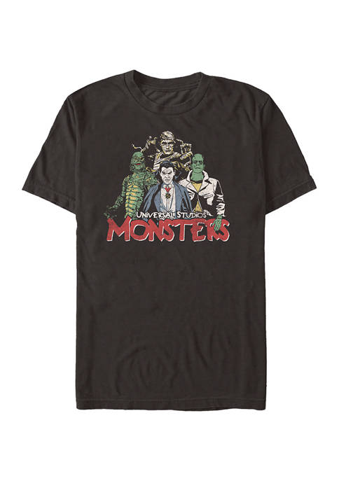 Universal Monsters Vintage Monsters Graphic T-Shirt