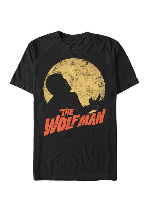 Universal Monsters Wolfman Silhouette Graphic T-Shirt