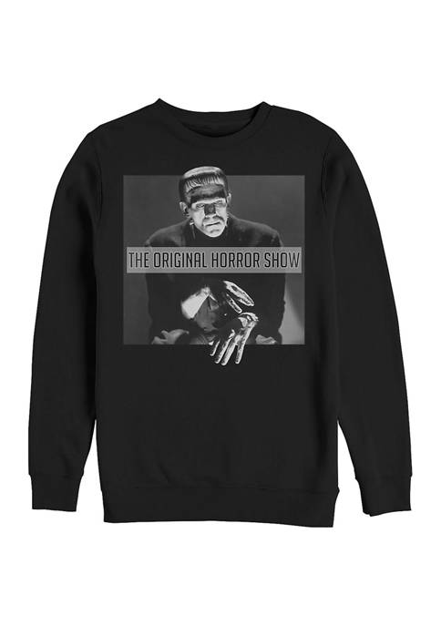 Universal Monsters Creepy Frank Graphic Crew Fleece Sweatshirt