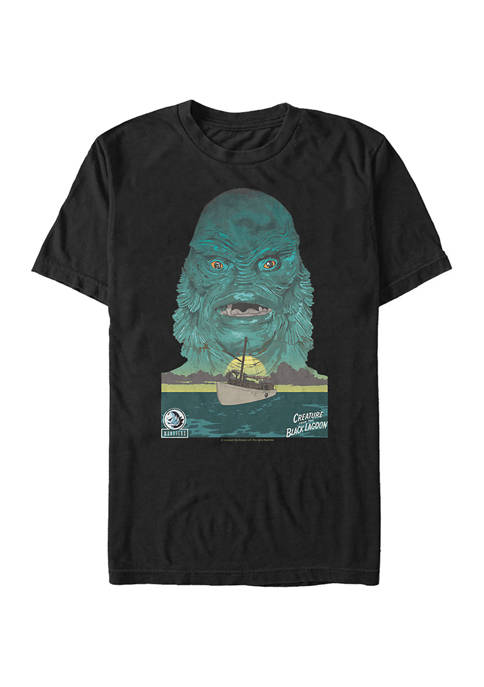 Creature Ship Illustrated Graphic T-Shirt