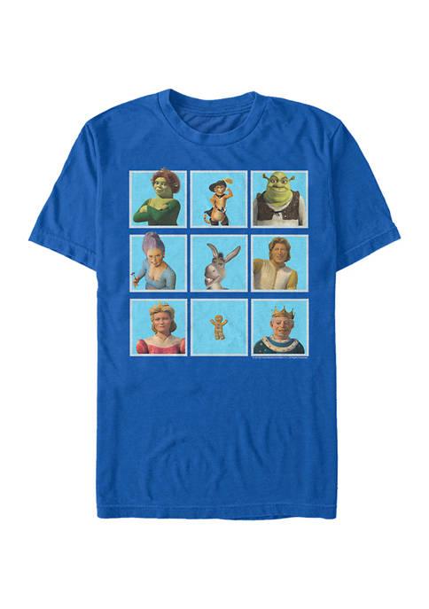 Shrek Family Lineup Graphic T-Shirt