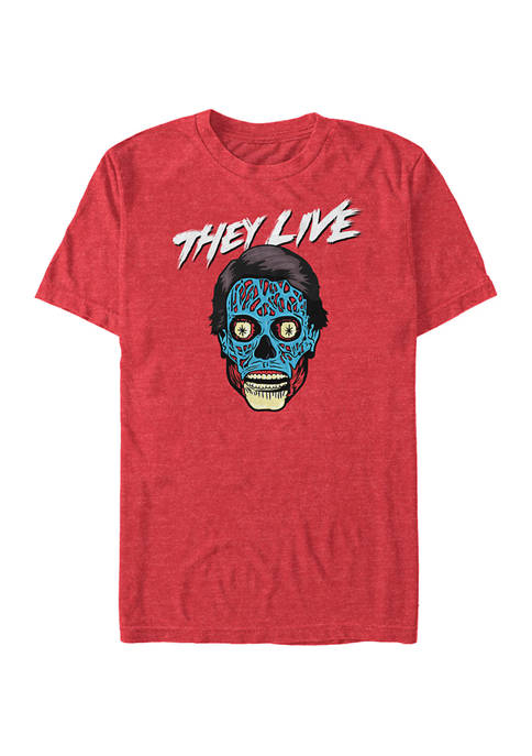 They Live Alien Face Graphic T-Shirt