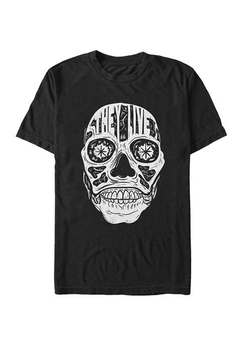 They Live Face Text Graphic T-Shirt