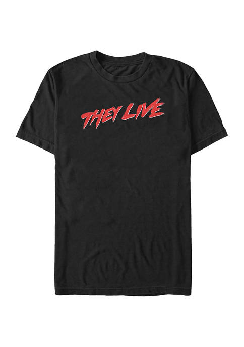 They Live Title Graphic T-Shirt