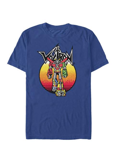 Defender of the Universe Retro Gradient Portrait Short Sleeve T-Shirt