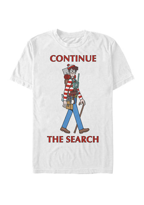 Continue The Search Portrait Short Sleeve T-Shirt