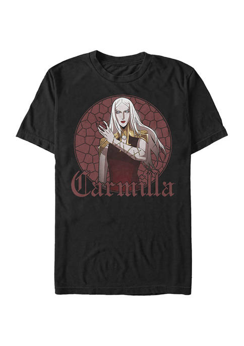 Stained Glass Carmilla Short Sleeve Graphic T-Shirt