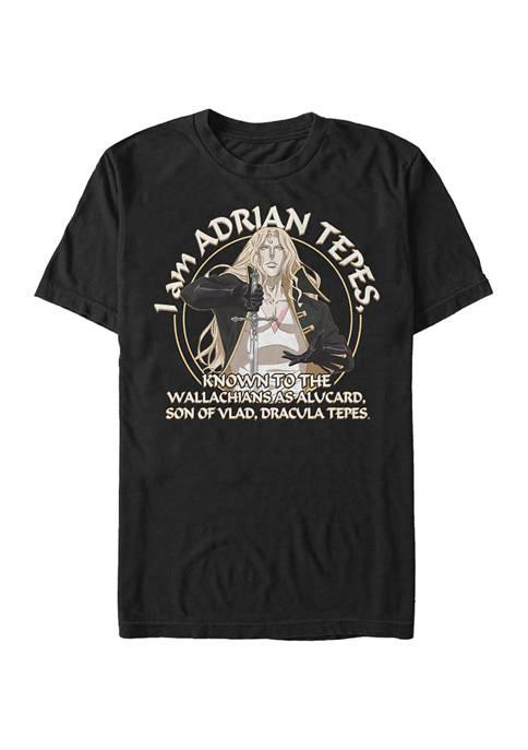 Castlevania Adrian Tepes Known As Alucard Short Sleeve