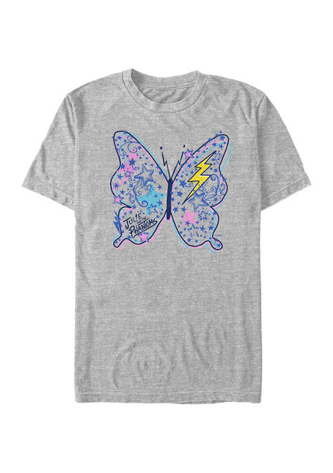 Butterfly Doodles Short Sleeve Graphic T-Shirt