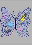 Butterfly Doodles Graphic Fleece Hoodie