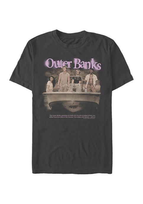 Juniors OBX Spraypaint Graphic T-Shirt