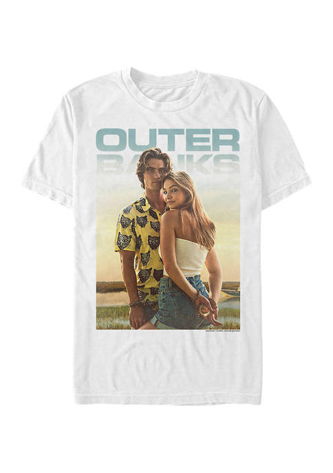Outer Banks Juniors Poster Couple Graphic T-Shirt