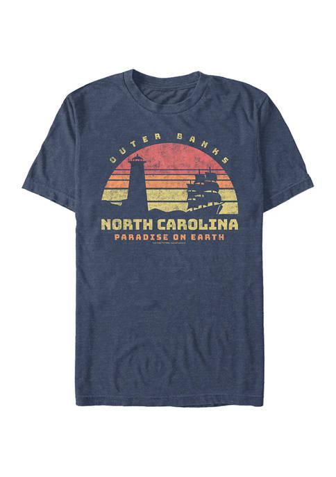 Juniors Outer Banks NC Tourist Graphic T-Shirt