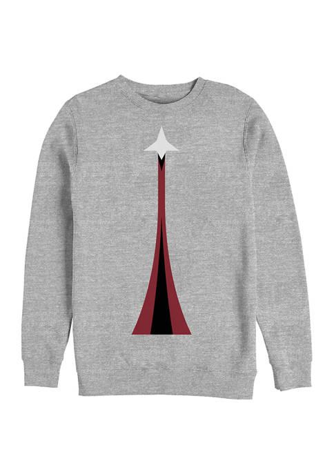 Rocket Blastoff Crew Graphic Fleece Sweatshirt