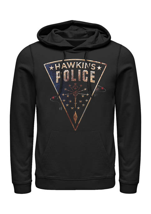 Stranger Things Hawkins Police Rats Fleece Graphic Hoodie