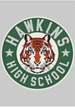 Hawkins High Tiger Emblem Crew Neck Fleece Graphic Sweatshirt