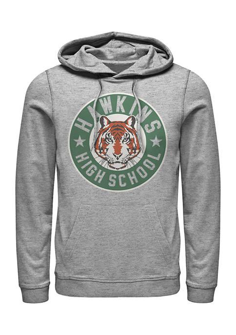 Stranger Things Hawkins High Tiger Emblem Graphic Fleece