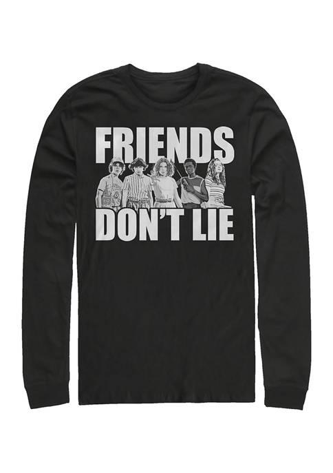 Stranger Things Cast Friends Dont Lie Long Sleeve