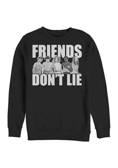 Stranger Things Cast Friends Dont Lie Crew Neck