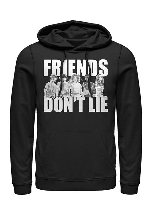 Stranger Things Cast Friends Dont Lie Fleece Graphic