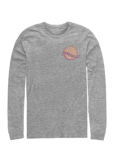 Stranger Things Waffle Pocket Long Sleeve Graphic T-Shirt