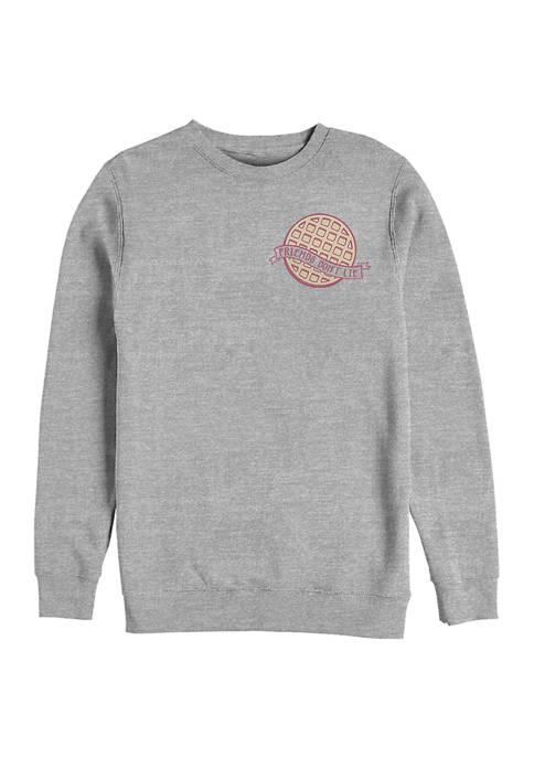 Waffle Pocket Crew Graphic Fleece Sweatshirt