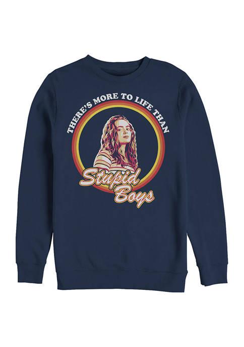 Stupid Boys Crew Graphic Fleece Sweatshirt