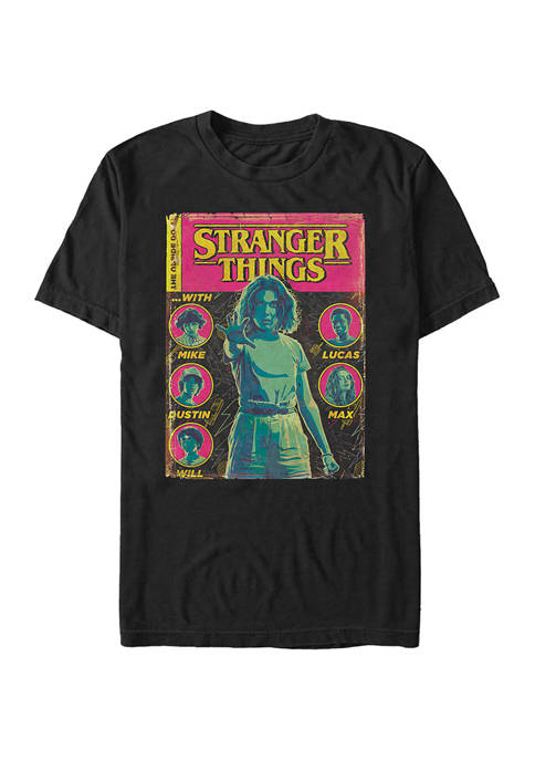Comic Cover Short Sleeve Graphic T-Shirt
