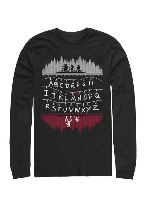 Alphabet Lights Long Sleeve Crew Neck T-Shirt