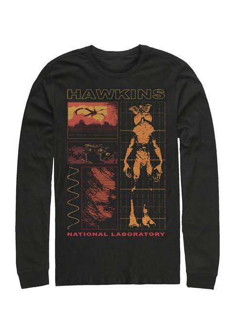 Hawkins Lab Long Sleeve Crew Neck Graphic T-Shirt