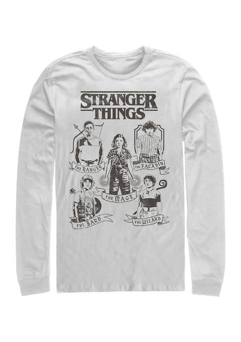 DnD Classes Long Sleeve Crew Graphic T-shirt
