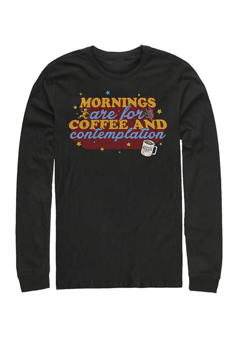 Stranger Things Coffee Contemplations Long Sleeve Crew Graphic