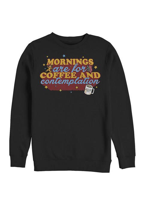 Coffee Contemplations Crew Fleece Graphic Sweatshirt