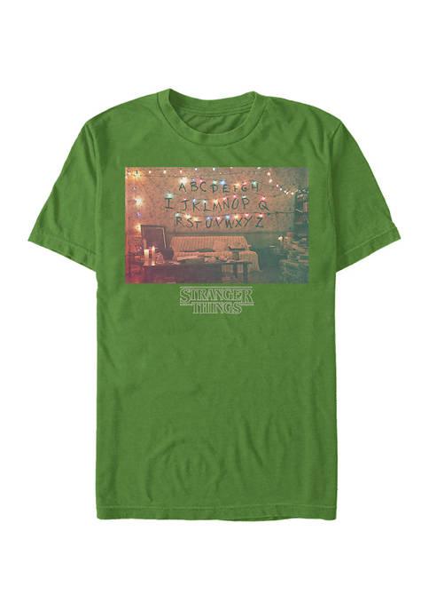 Christmas Lights Short Sleeve Graphic T-Shirt