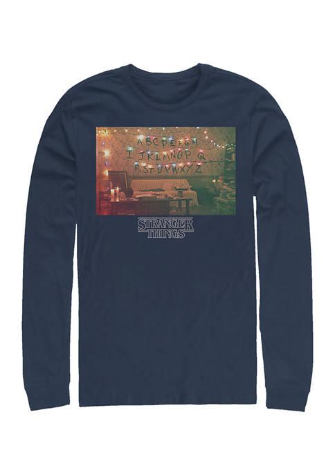 Christmas Lights Long Sleeve Crew Neck Graphic T-Shirt