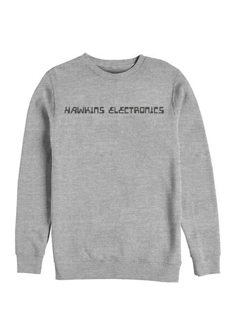 Hawkins Electronics Crew Fleece Graphic Sweatshirt